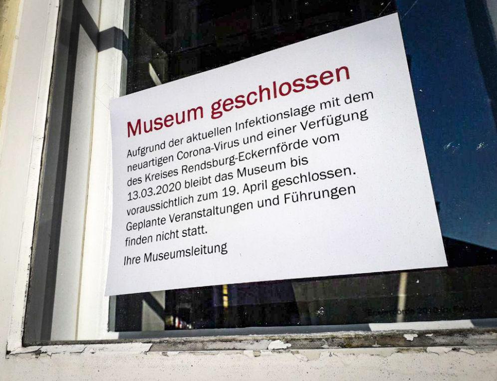 Museum geschlossen aufgrund der Corona-Maßnahmen